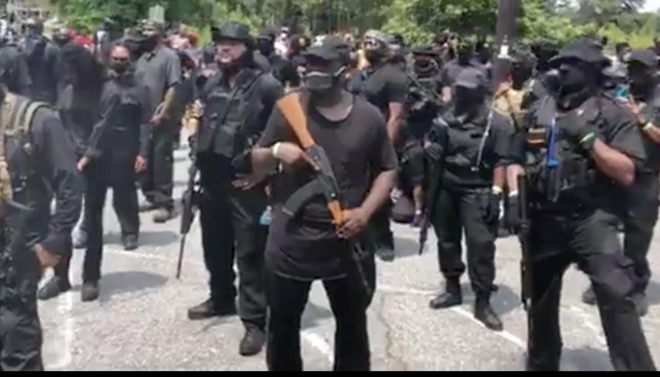Heavily Armed Black Protesters Walk Through Georgia's Stone Mountain Park (Video) - Sara A. Carter