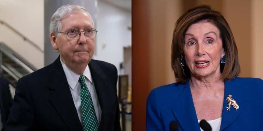 Nancy Pelosi and Mitch McConnell's homes vandalized, 'pig ...